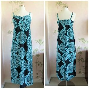 LOFT Dresses - LOFT Blue Medallion Maxi Dress